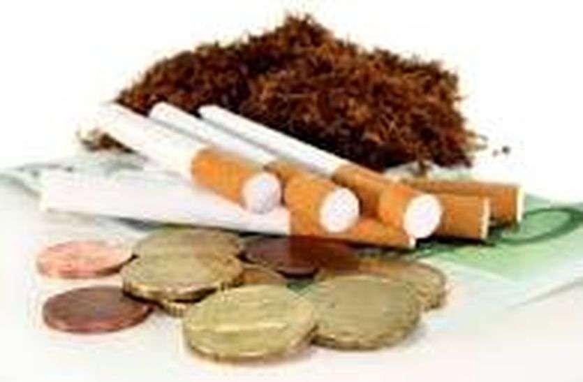 मकान पर दबिश, नकली तंबाकू उत्पाद का भण्डोफोड़