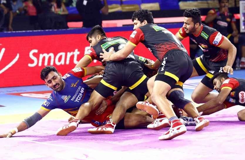 पीकेएलः यूपी योद्धा ने बेंगलुरू बुल्स को अंतिम लीग मैच में हराया