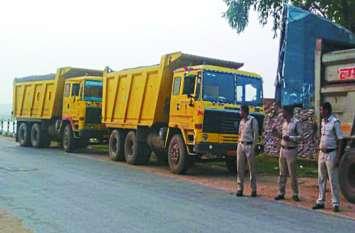 आधी रात SDM, तहसीलदार की टीम ने 9 ट्रकों को किया जब्त, बड़े खुलासे से मचा हड़कंप