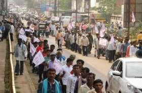 किसानों का भूपेश सरकार के खिलाफ प्रदर्शन, निकाली तगादा रैली
