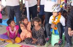Ajmer News : नन्ही स्केटर हंसिका ने झुग्गी बस्ती के बच्चों को दिया सफलता का मंत्र
