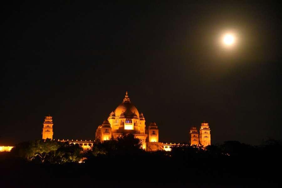 full moon pictures on sharad purnima in jodhpur