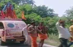 राम मंदिर निर्माण के लिए बैंगलुरू से अयोध्या तक पैदल यात्रा