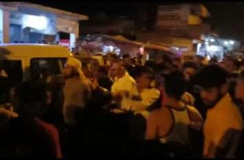 शराब पकडऩे गई पुलिस व शराब माफिया भिड़े