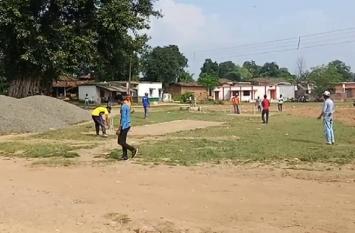 रेल्वे टीम समनापुर ने छोटी कुम्हारी को हराया