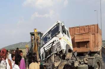 Kishangarh- NH8 पर दो ट्रेलरों में भिड़ंत, डेढ़ घंटे तक जाम रहा राजमार्ग