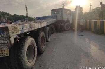 तीन वाहन टकराए, यातायात बाधित