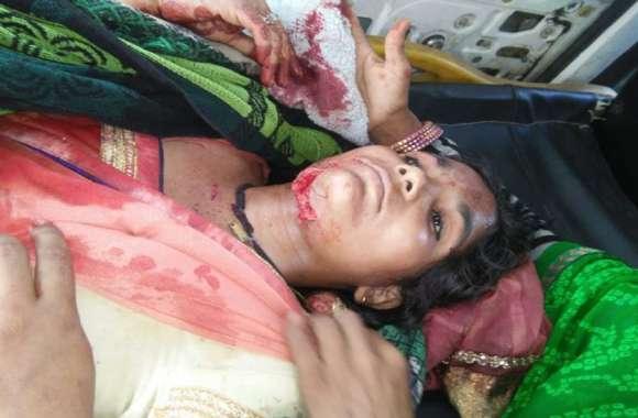 करवा चौथ के दिन पत्नी पर धारदार दराती से हमला