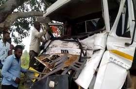 सड़क दुर्घटना के बाद घंटों ट्रक में ही फंसा रहा ड्राइवर, कड़ी मशक्कत के बाद ऐसे बची जान