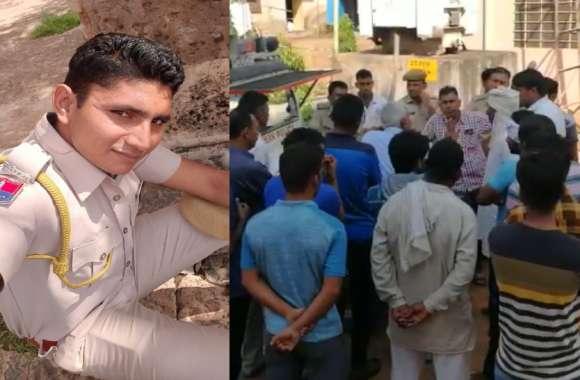 राजस्थान पुलिस के जवान का सड़क हादसे में निधन, पुलिस महकमे में शोक की लहर