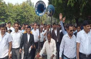अधिवक्ताओं ने रैली निकाली, प्रदर्शन कर राज्य सरकार को चेताया...