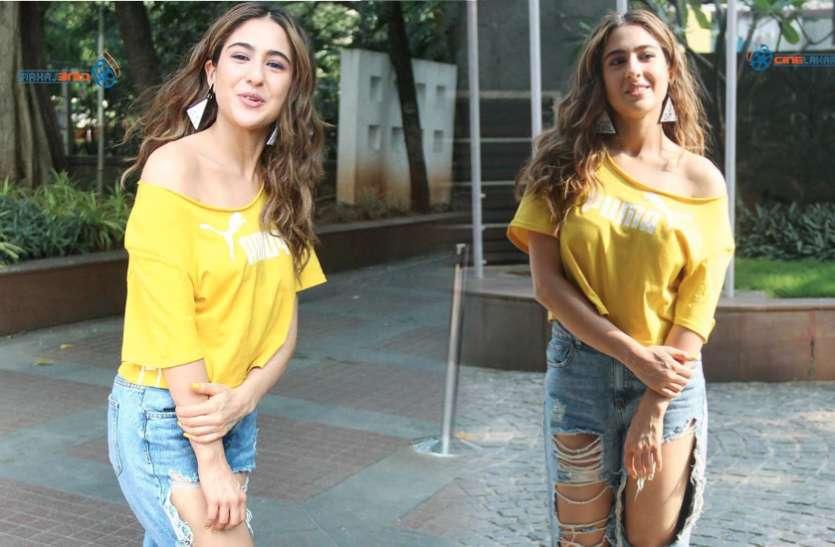 Sara ali khan: घर से बाहर निकलते ही घेर लिया, तो रुककर अभिनेत्री ने पूछी खेरियत