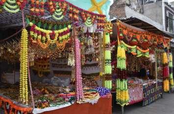 दीपावली के लिए बाजार तैयार, ग्राहकों का इंतजार