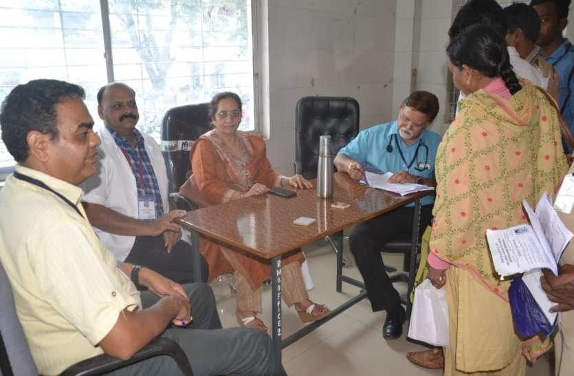 Hospital News:जिलास्तरीय मेडिकल बोर्ड में ८५ का परीक्षण