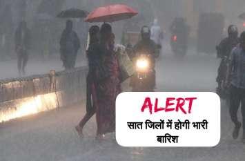 मानसून ने की वापसी, 48 घंटे के दौरान छत्तीसगढ़ के सात जिलों में भारी बारिश की चेतावनी