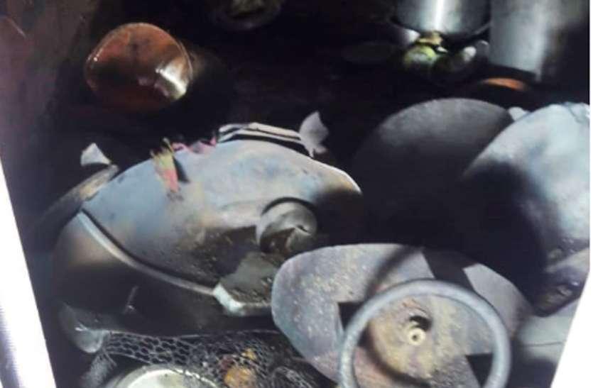रसोई गैस सिलेंडर फटा, तीन घायल