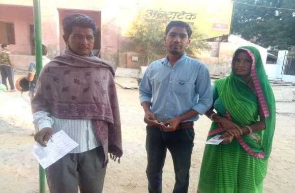 राजस्थान के मंडावा में मतदान शुरू सुबह से ही जोरदार उत्साह