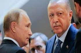 VIDEO: रूसी राष्ट्रपति पुतिन ने तुर्की के राष्ट्रपति एर्दोगन से की मुलाकात, सीरिया में सीजफायर पर की चर्चा