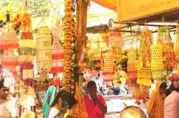 alwar deepawali decoretion news दीपावली की खरीददारी का दुल्हन जैसे सजे बाजार