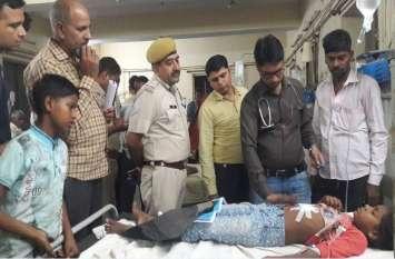 युवक की मारपीट के दौरान फायरिंग, राहगीर बालिका को लगी गोली