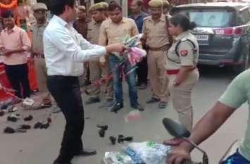 अमेठी में विवाद, दिवाली पर जाम देखकर सड़क पर फेंका दुकान का सामान, इसके बाद किया ऐसा काम, देखें वीडियो