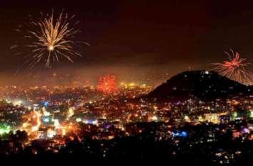 उदयपुर बोला हैप्पी दिवाली, आसमां से लेकर धरती तक फैला उजास, रोशनी से जगमगा उठी झीलों की नगरी