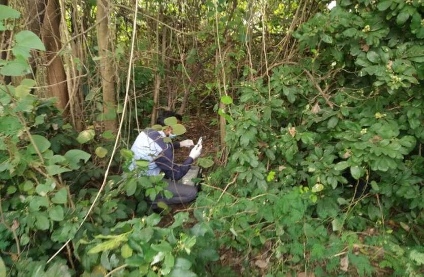 झाड़ियों में पेड़ की डाल से लटकती मिली युवक की लाश, जांच में जुटी पुलिस