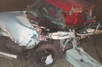 लग्जरी जीप डम्पर से टकराई, मासूम की मौत तीन गम्भीर घायल