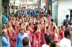 देखिए...मंशा चौथ पर तलवाड़ा में धूमधाम से निकाली देवसोमनाथ की शोभायात्रा