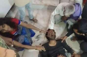 मकान में घिसाई का काम करते समय करंट लगने से मजदूर की मौत, देखें वीडियो