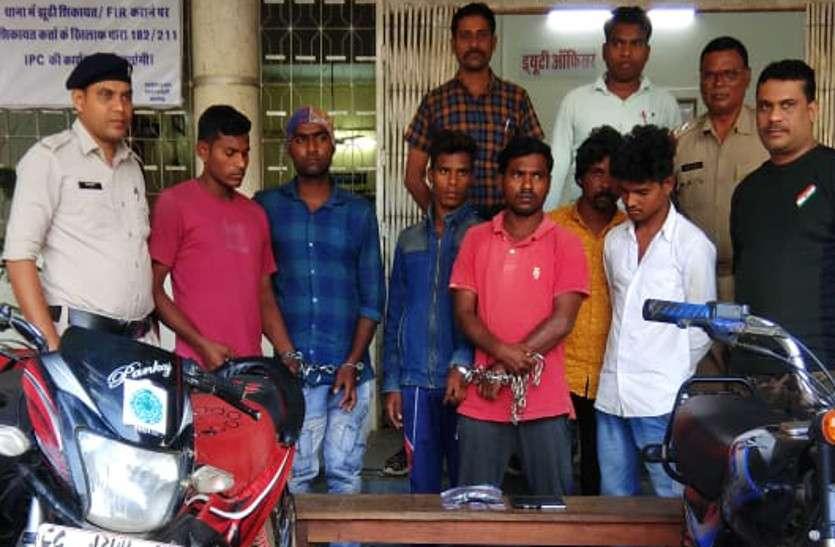 चोर गिरोह पकड़ाया, जेल में हुई थी दोस्ती, फिर बाहर निकलने के बाद घटना को दे रहे थे अंजाम