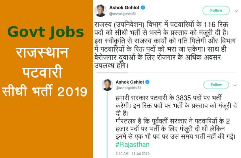 Rajasthan Patwari Bharti 2019: पटवारी के 3951 पदों पर होगी भर्ती, पढ़ें डिटेल्स