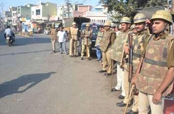 आयोध्या पर फैसले को लेकर चप्पे-चप्पे पर पुलिस रही तैनात