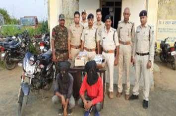 पुलिस ने 36 घंटे के अंदर लूट के आरोपियों को पकड़ा, आरोपियों से लूट के 23700 रुपए सहित सामग्री बरामद