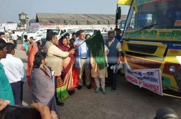 बसों से मरीजों को इलाज के लिए भेजा गया भोपाल एवं जबलपुर