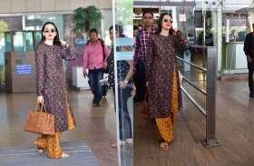 जयपुर एयरपोर्ट पर स्पाॅट हुई करिश्मा कपूर, काजल अग्रवाल, मंदिरा बेदी का दिखा कूल अंदाज