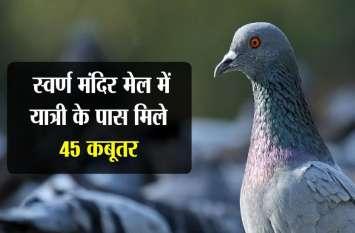 स्वर्ण मंदिर मेल में यात्री के पास मिले 45 कबूतर,तस्करी का अंदेशा
