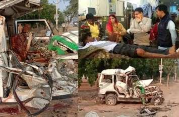 बीकानेर में भीषण हादसा: तीर्थ यात्रा करने जा रहे शेखावाटी के 7 लोगों की दर्दनाक मौत
