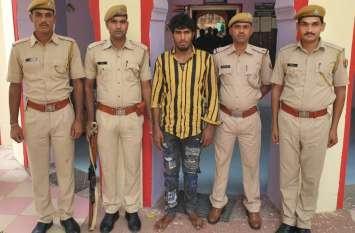 प्रागपुरा पुलिस ने पकड़ा लूट का आरोपी