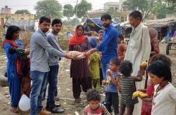 jaipur rural : गुरु नानक जयंती पर जरुरतमंदों के खिले चेहरे