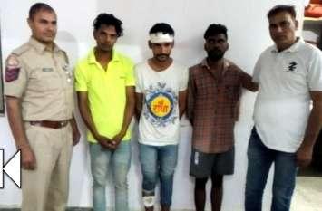 पीएचईडी के गोदाम में चोरी करने वाले तीन बदमाश गिरफ्तार