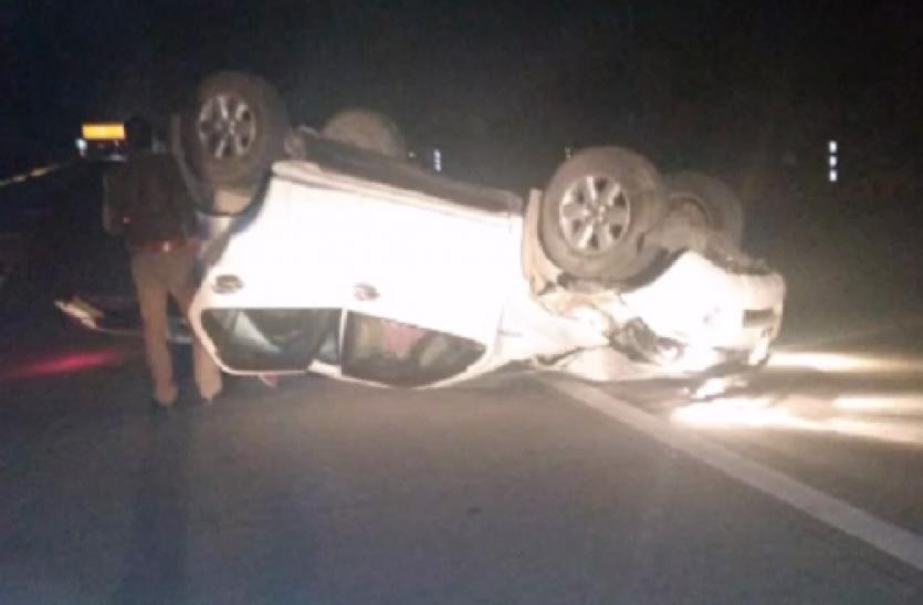 Big News: यमुना एक्सप्रेस-वे पर भाजपा विधायक की गाड़ी पलटी, विनोद कटियार समेत तीन घायल- देखें वीडियो