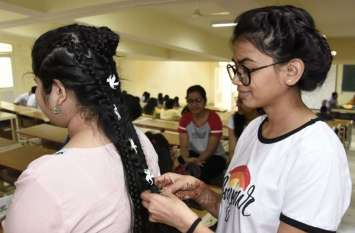 मेडिकल स्टूडेंट ने सजाए बाल