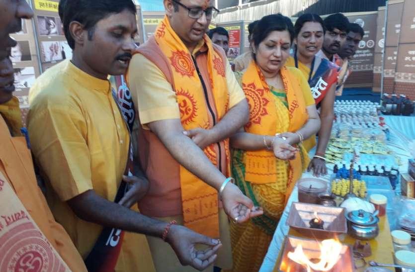 Ashwamedha Yagya 2019 : डॉ. चिन्मय पंड्या ने किया सूक्ष्म यज्ञ, हवन की नई विधा से हुए प्रभावित