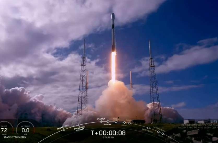 हाई स्पीड इंटरनेट के लिए अंतरिक्ष पर निशाना, SpaceX ने एक साथ भेजे 60 स्टारलिंक सैटेलाइट