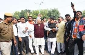 राहुल गांधी की माफी की मांग को लेकर भाजपा उतरी सडक़ों पर