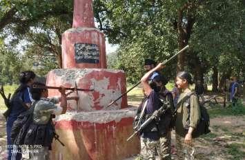 महिला कमांडो ने गिराया नक्सलियों के तीन स्मारक