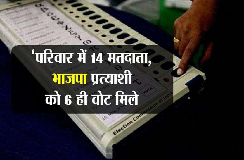 निकाय चुनाव में यहां हुआ ऐसा, परिवार में 14 वोट, भाजपा प्रत्याशी को छह ही मिले