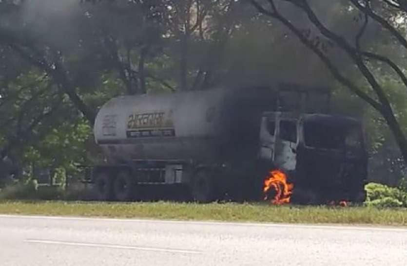 सिंगुर: ऑयल टैंकर में लगी आग