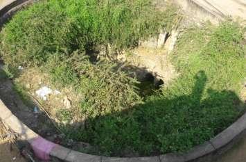 सिंचाई कॉलोनी के बावड़ी की सफाई हो तो निखरे सौंदर्य